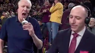 Bill Walton Casually Swallowed A Lit Candle On Television And Luke Had A Priceless Reaction