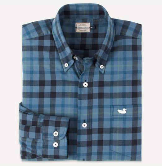 'Boundary' Washed Plaid Shirt