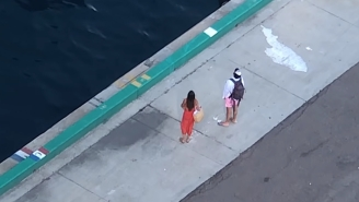 Viral Video Shows Couple Helplessly Watching Their Cruise Ship Leave Without Them, Stranding Them In The Caribbean