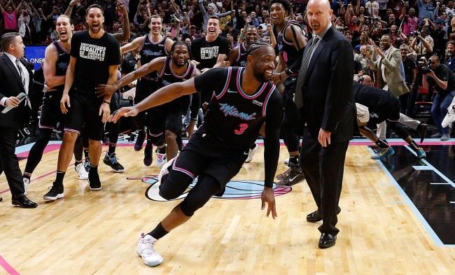 Dwyane Wade Hits Game-Winning Three Kobe Chris Paul Reactions