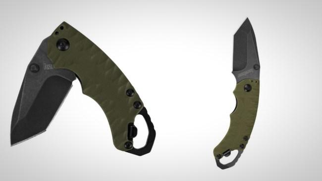 kershaw shuffle II olive pocket knife