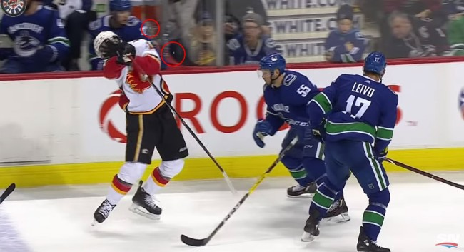 Flames Forward James Neal Took A Stick To The Mouth Sending His Teeth Flying