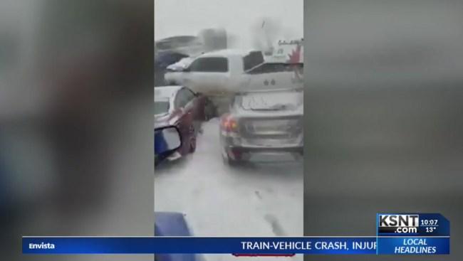 Footage Of Massive Chain-Reaction Crash On I-70 In Missouri