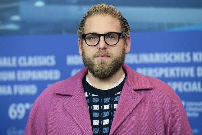 """BERLIN, GERMANY - FEBRUARY 10: Jonah Hill attends the """"Mid 90's"""" press conference during the 69th Berlinale International Film Festival Berlin at Grand Hyatt Hotel on February 10, 2019 in Berlin, Germany. (Photo by Stephane Cardinale - Corbis/Corbis via Getty Images)"""