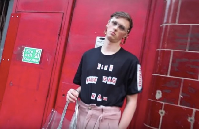 Guy Trolls London Fashion Week with cheap outfits
