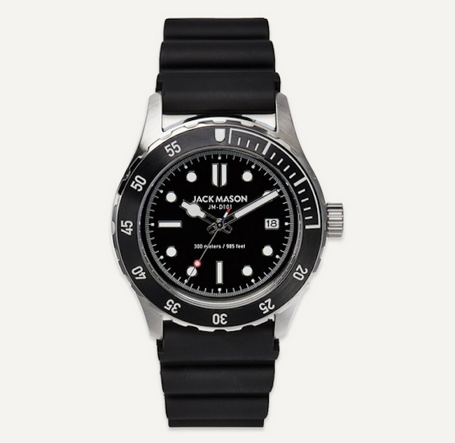 Jack Mason Stainless Steel & Rubber Diving Watch