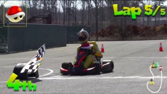 Kyle Busch Created A Legit 'Mario Kart' Track And It Looks Like An Absolute Blast