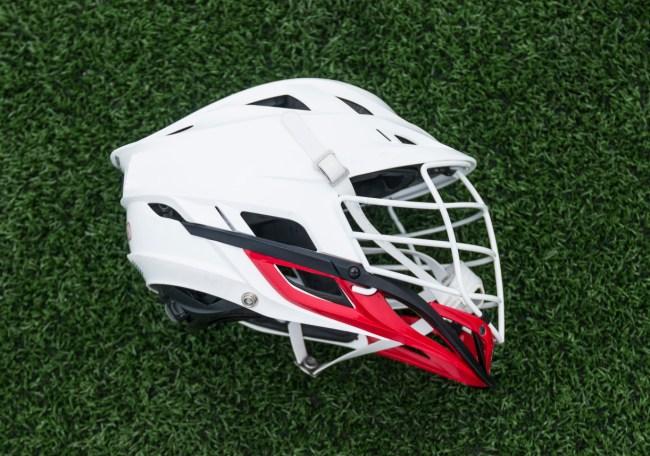 big head lacrosse player helmet