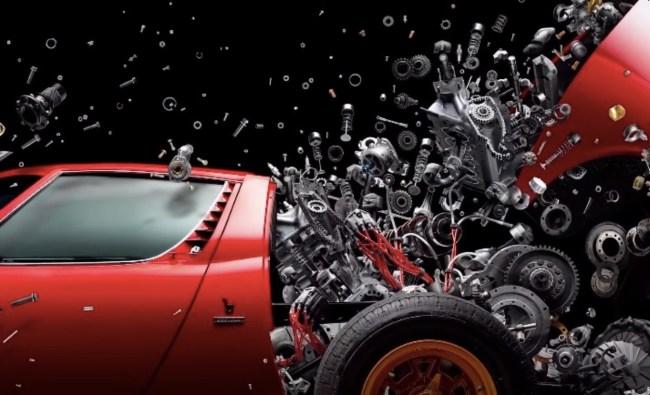 Lamborghini Miura Disintegrating Art Fabian Oefner