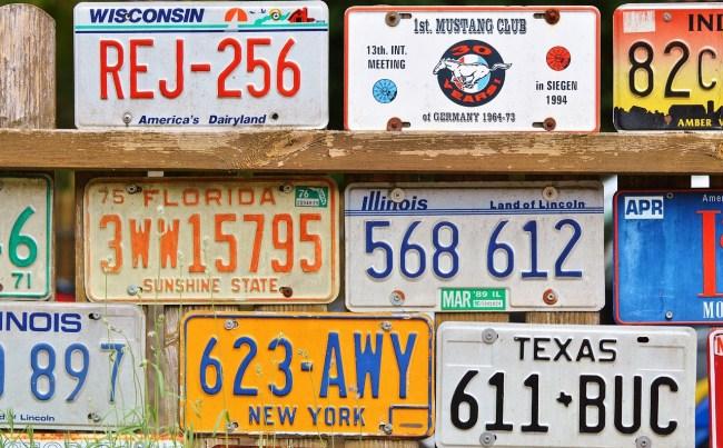 david assman license plate decal
