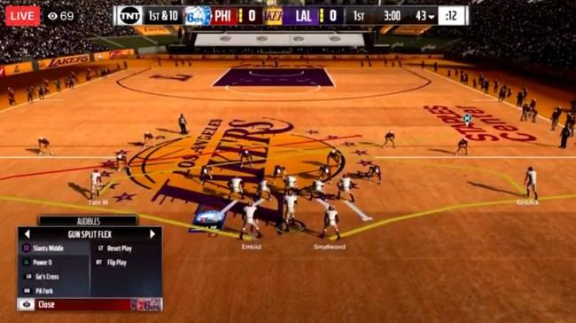 Madden-NBA 2K Mod Play Football On An NBA Court