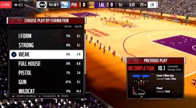 Madden-NBA 2K Mod Play With Football On An NBA Court