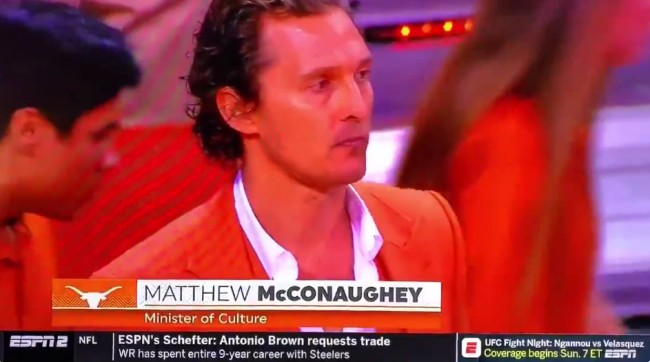 Matthew McConaughey, Minister Of Culture, Was Back On The Texas Bench