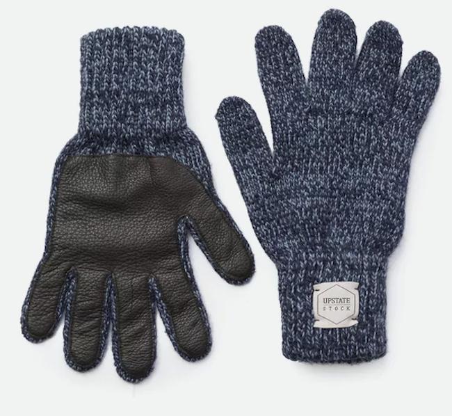 Melange Wool Full-Finger Gloves