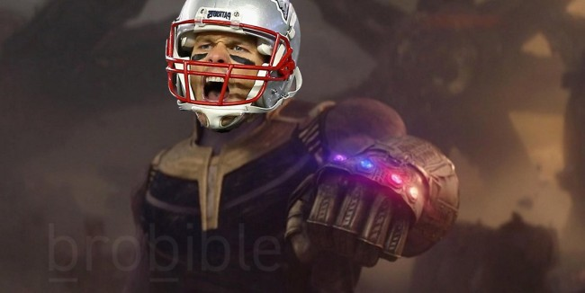 Meme Tom Brady And His Six Rings Vs Thanos And The Infinity Gaunlet
