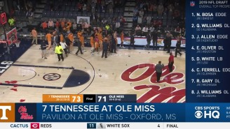 Ole Miss Fans Showered The Court With Trash After Controversial Call Secures Tennessee Win