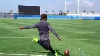 YouTube Star Drills 75-Yard Field Goal That May Still Be In Orbit