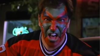 """New Jersey Devils Run Awesome Promotion With 'Seinfeld""""s Facepainter, Who Then Totally Bit It On The Ice"""