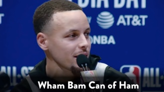 Here's Why Steph Curry Gave That Bizarre 'Wham, Bam, Can Of Ham' Interview Answer During All-Star Weekend