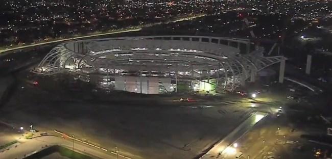 The Rams And Chargers New 5 Billion Stadium Contruction Progress