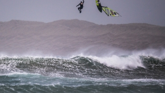 These Windsurfers Off Ireland During 'Weather Bomb' With 80MPH Winds And 30-Foot Waves Are Legit Savages