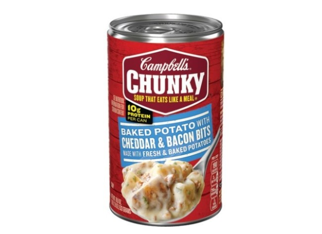 (6 Packs) Campbell's Chunky Baked Potato With Cheddar & Bacon Bits Soup, 18.8 oz
