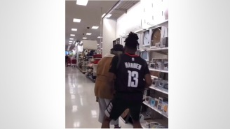 This Comedian Imitating James Harden, Air-Crossing And Scaring People At Target, Is Too Funny