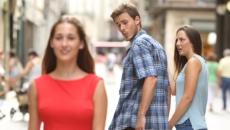 Hungarian Government Being Mocked For Using The Distracted Boyfriend Meme Couple In Propaganda Campaign