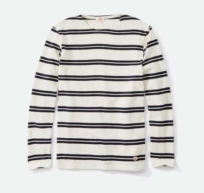 Double Jagger Stripe In White