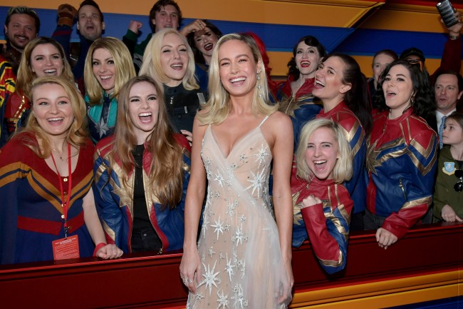 Brie Larson at Captain Marvel movie premier