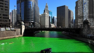 The River In Chicago Was Dyed So Green People Could Photoshop Anything They Wanted On Top And It Was Awesome