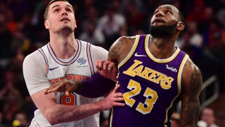 Knicks' Mario Hezonja Pointing And Laughing At LeBron Before Game-Sealing Block Is NBA Twitter's New Favorite Meme