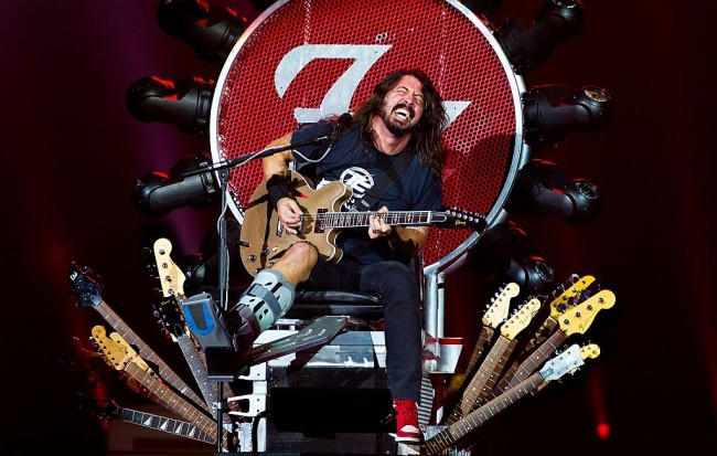 Foo Fighters Frontman Dave Grohl Guitar Throne