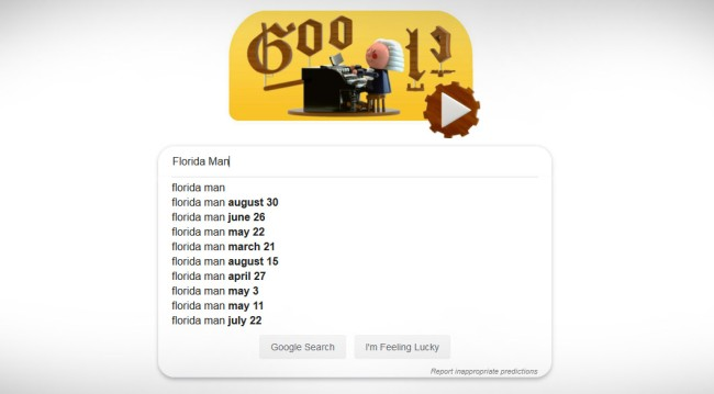 Googling Your Birthday With The Words 'Florida Man' Challenge