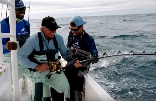 Greg Norman BlacktipH fishing sharks goliath grouper