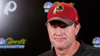 Fans Mock Jay Gruden For His Sad Expression In NFL Coaches' Photo As Some Woman Photobombs Them All