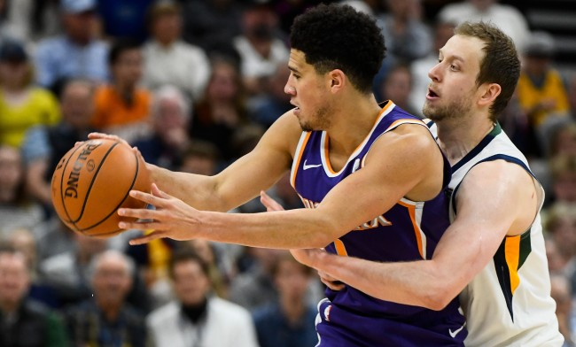 Jazz Intentionally Fouled, Up 33, To Keep Devin Booker From Scoring 60
