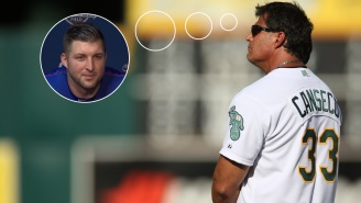 Jose Canseco Offered To Help Tim Tebow With His Hitting And This Needs To Be A TV Show Right Damn Now