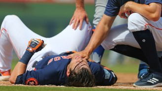 Josh Reddick Got Absolutely Obliterated By The Mets' Pete Alonso In A Collision At First Base