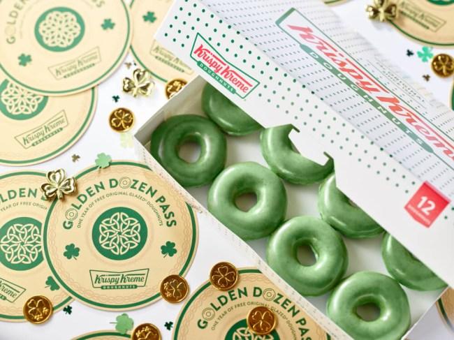 krispy kreme st patricks day free donuts