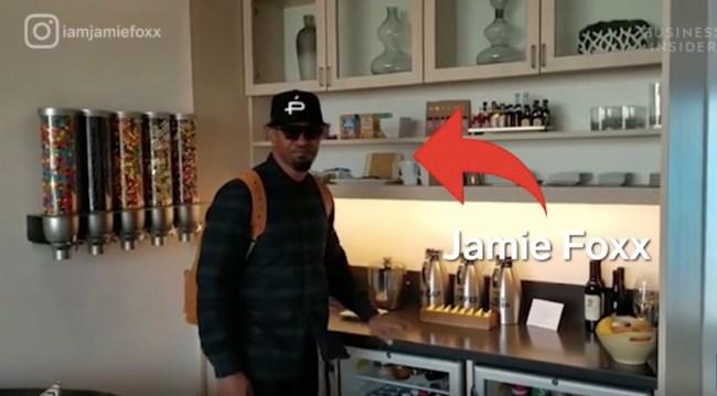 LAX airport private suites Jamie Foxx