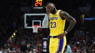 Refs Don't Call LeBron James For Egregious Travel Before Dunk Against Nuggets