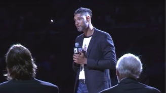 Tim Duncan Roasted Greg Popovich For Not Even Saying Manu Ginobili's Name Right After Spurs Drafted Him