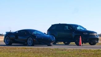 Drag Race Between McLaren 600LT And 1000 HP Jeep Trackhawk – Who Ya Got?