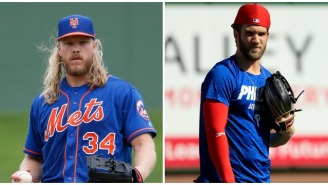 Noah Syndergaard Jabs Bryce Harper For Saying He 'Wants To Bring A Title Back To D.C.' In Phillies Press Conference