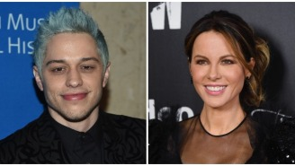 The Very Best Memes From Pete Davidson And Kate Beckinsale Playing Tonsil Hockey At The Rangers Game