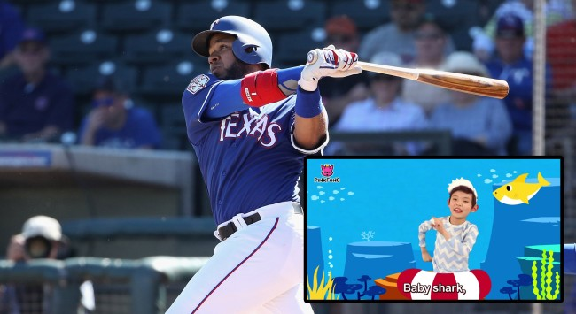 The Reason Why Elvis Andrus Used Baby Shark As His Walk-Up Music
