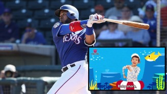 Elvis Andrus Used 'Baby Shark' As His Walk-Up Music, And The Reason Why Is Dad Of The Year Material