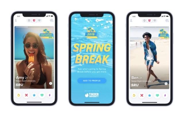 Tinder Spring Break Mode features announced