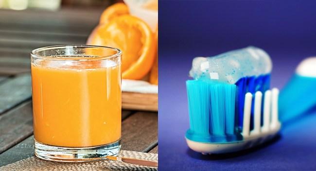 why orange juice and toothpaste taste bad